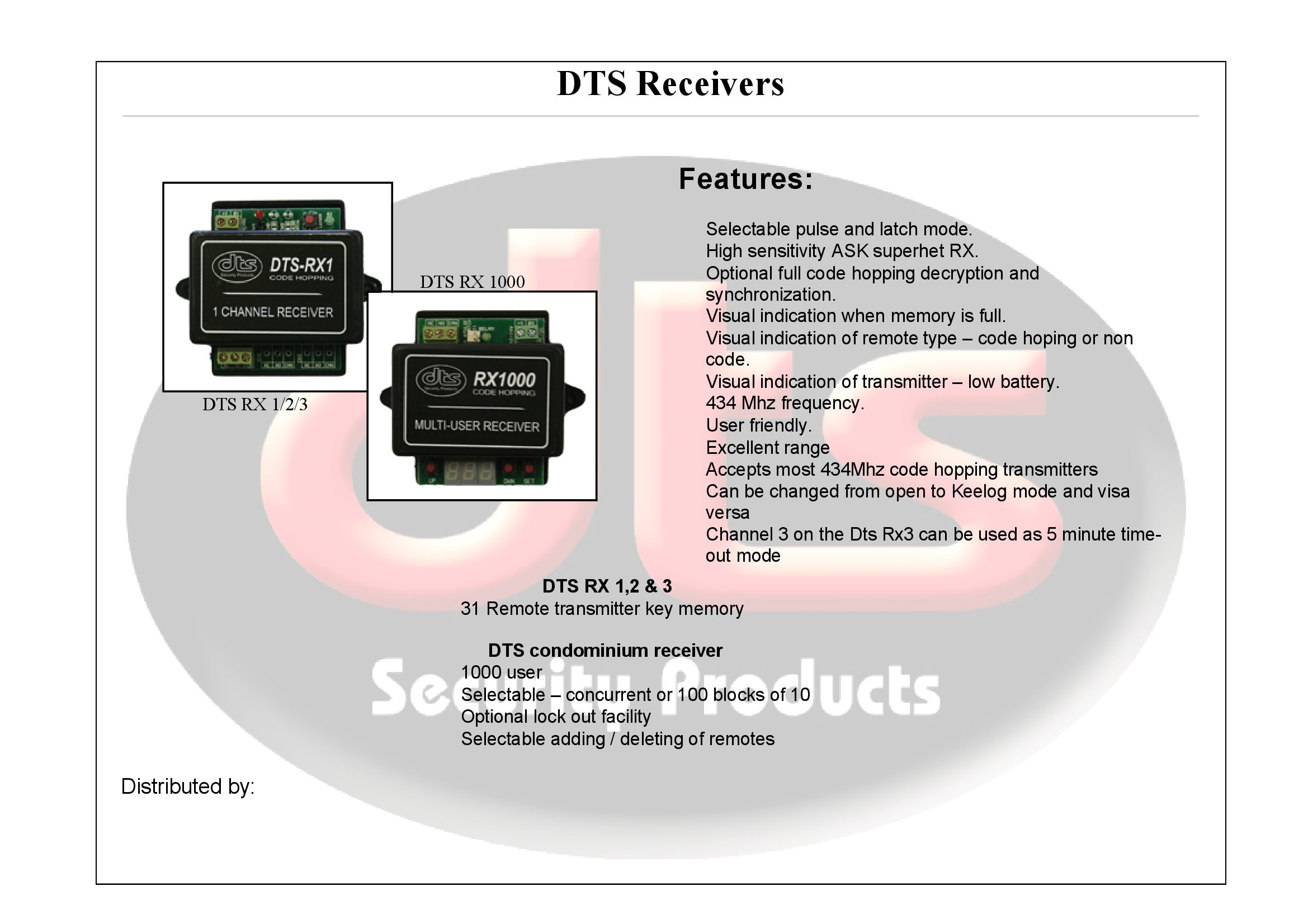 Dts Gate Motor Wiring Diagram Trusted Diagrams Electric Receivers Security Products Fence